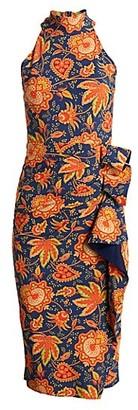 Chiara Boni Amenadiel Printed Halter Dress