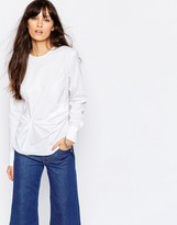 Just Female Vadin Knot Shirt in White