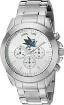 Game Time Women's NHL-TBY-SJ Knock-Out Analog Display Japanese Quartz Silver Watch