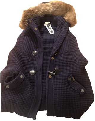 Bark Blue Wool Jacket for Women