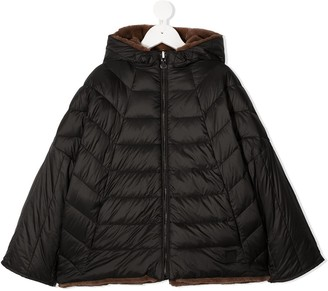Bonpoint Reversible Feather-Down Hooded Jacket