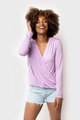 Gibson Mallory Soft Knit Wrap Top