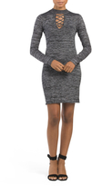 Juniors Marled Sweater Dress