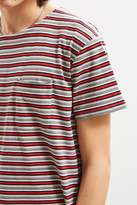 Urban Outfitters Horizontal Stripe Curved Hem Tee