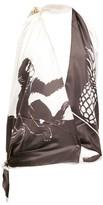 Bottega Veneta Monkey-print Halterneck Silk Top - Womens - Brown White