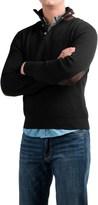 Viyella Mock Neck Sweater - Hidden Zip Neck (For Men)
