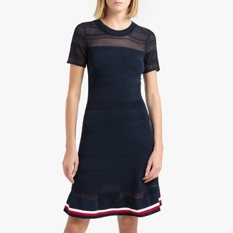 Tommy Hilfiger Short-Sleeved Openwork Dress