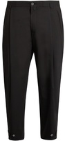 Dolce & Gabbana Pleat-front wool-blend cropped trousers
