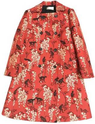 Valentino Red Red Cotton Coat for Women