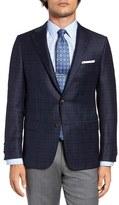 Hickey Freeman Men's Classic Fit Plaid Wool & Silk Sport Coat