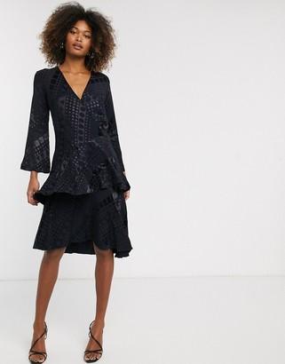 Closet London Closet v-neck ruffle dress