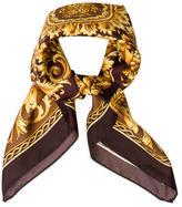 Versace Ornate Print Silk Scarf w/ Tags