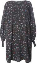 Dorothy Perkins Curve Polka Dot Floral Print V-Neck Tie Shift Dress