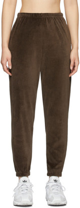 Gil Rodriguez SSENSE Exclusive Brown Velour Beachwood Lounge Pants