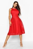 Boohoo Boutique Li Panelled Full Skirt Skater Dress
