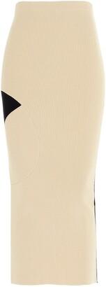 Off-White Colour Block Knit Skirt