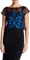 Milly Coupe Illusion Cropped Blouse