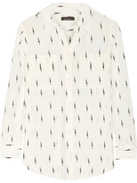 Kate Moss for Equipment - Slim Signature Printed Washed-silk Shirt - Ivory
