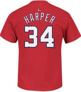 Majestic Men's Washington Nationals MLB Bryce Harper Name and Number T-Shirt