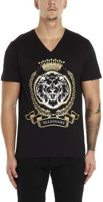 Billionaire Lion Logo Printed T-Shirt