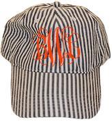 Party Cat Personalized Navy Seersucker Hat