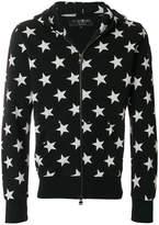 Hydrogen star print zipped hoodie