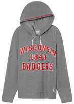 PINK University Of Wisconsin Crossover Pullover Hoodie