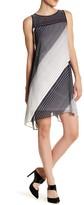 Robbie Bee Diagonal Stripe Dress