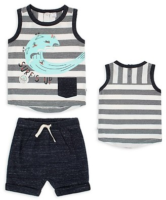 Petit Lem Baby Boy's Venice Beach 2-Piece Tank Shorts Set