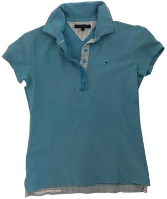 Tommy Hilfiger Turquoise Cotton Top for Women