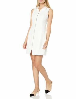 """XOXO Women's 33 1/2"""" Collar Front Zip Dress"""
