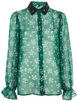 Topshop Beaded Collar Shirt
