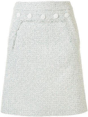Paule Ka tweed A-line midi skirt