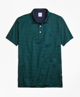 Brooks Brothers Original Fit Even Stripe Performance Polo Shirt