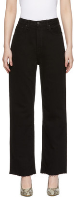 Rag & Bone Black Ruth Super High-Rise Straight Jeans