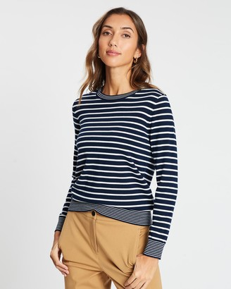 David Lawrence Stripe Knit