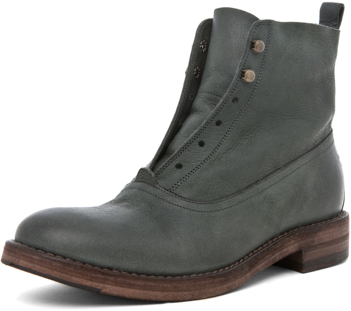 Sartore Pesca Lace Up Bootie in Green