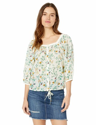 Lucky Brand Women's Printed Banded TOP