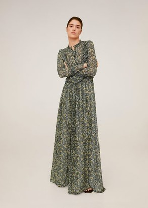 MANGO Embossed flower gown