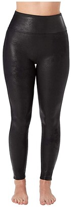 Spanx Petite Faux Leather Leggings (Black) Women's Casual Pants