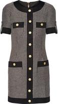 Pierre Balmain Cotton-blend tweed mini dress