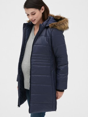 Gap Maternity ColdControl Puffer Coat with Detachable Hood