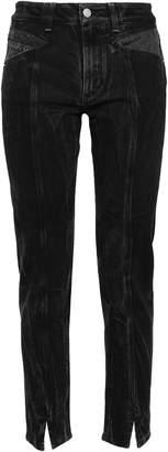 Givenchy Canvas-paneled High-rise Slim-leg Jeans