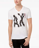 Armani Exchange Men's V-Neck Graphic-Print T-Shirt