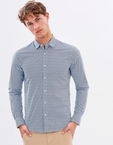 Scotch & Soda Long Sleeve Shirt with All Over Print