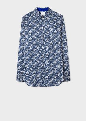 Paul Smith Women's Slim-Fit Navy 'Liberty Floral' Print Cotton Shirt