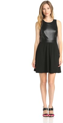 Ella Moss Women's Tabitha Solid Mix Sleeveless Dress