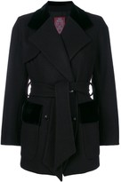John Galliano Pre Owned belted double-breasted coat