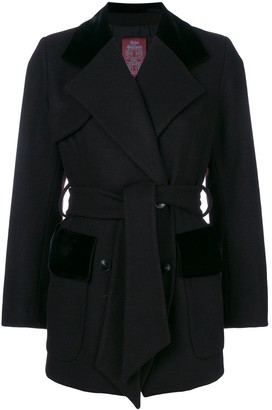 John Galliano Pre-Owned belted double-breasted coat
