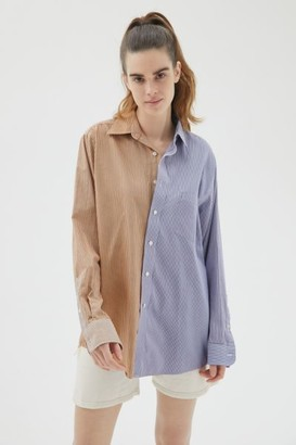 Urban Renewal Vintage Recycled Overdyed Spliced Men's Shirt